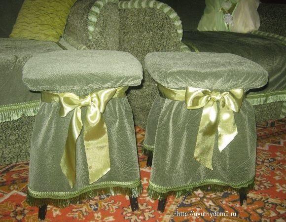 Как сделать чехлы на стулья своими руками без шитья